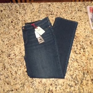 Lands End Lighthouse Mid Rise Straight Jean 18W